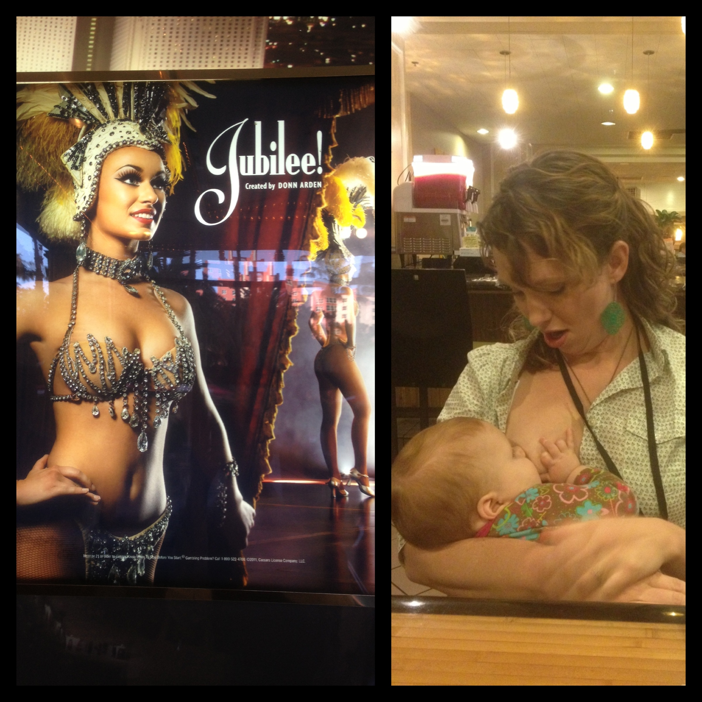 Vegas showgirl and breastfeeding mom