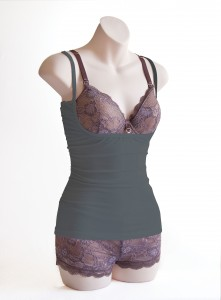 6. Charcoal Grey Mauve Bra