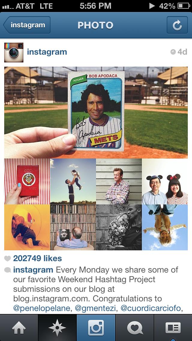 Instagram weekend hashtag
