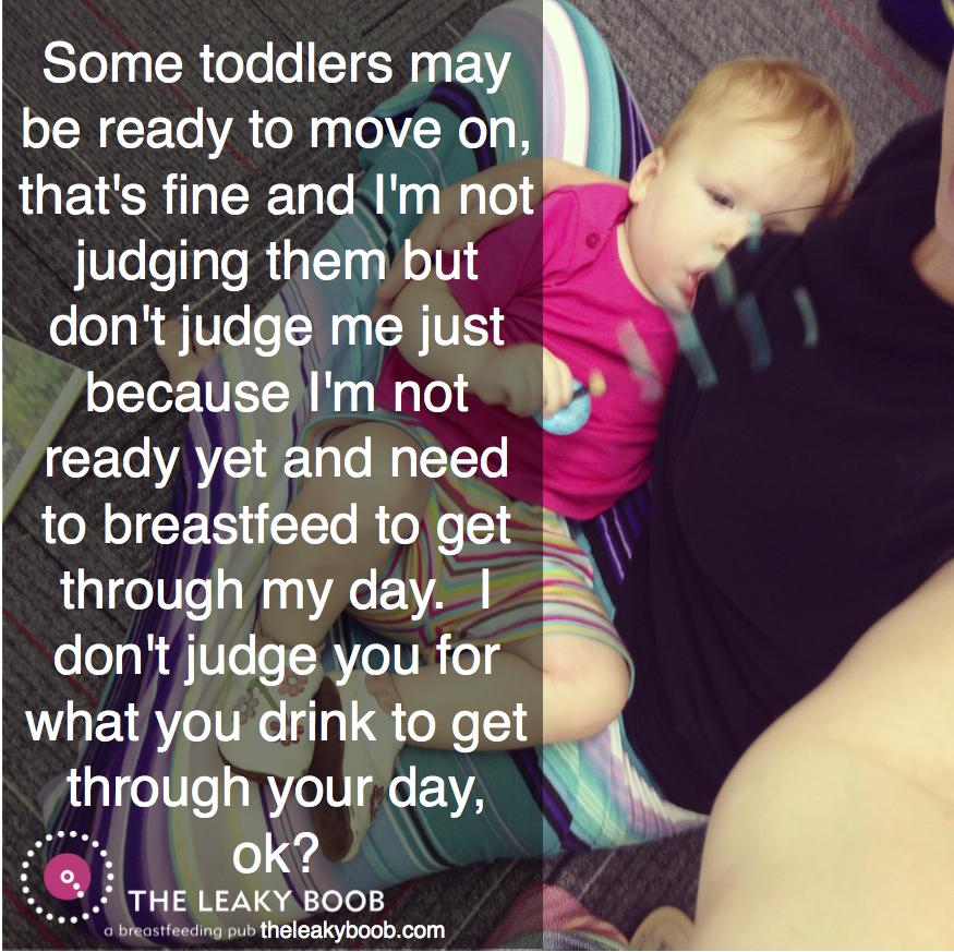 Toddler bfing judging image