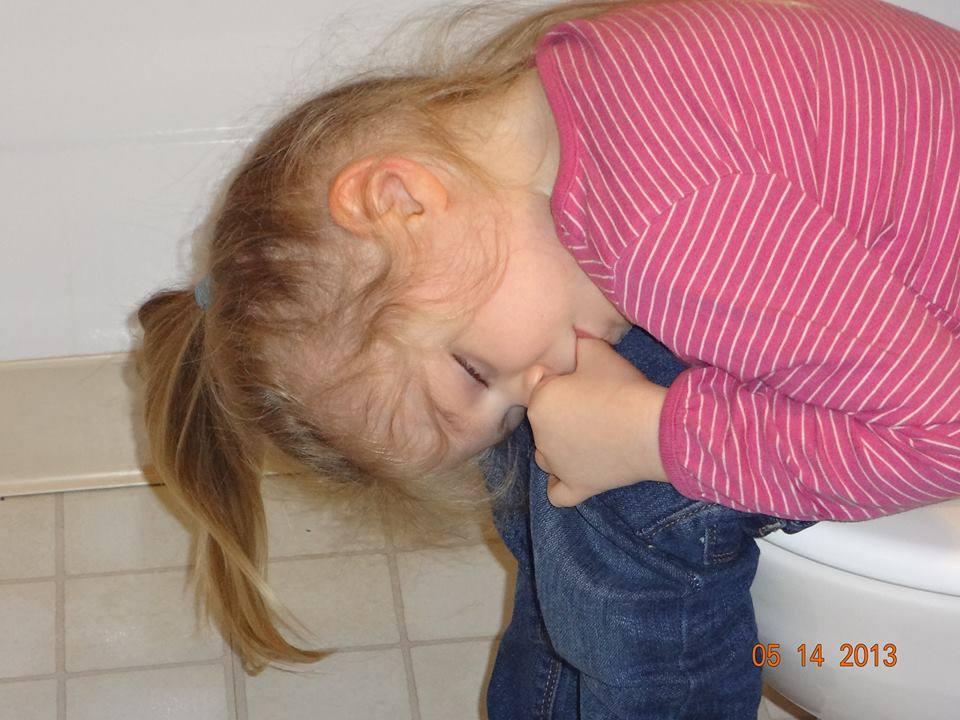 sleeping on the toilet