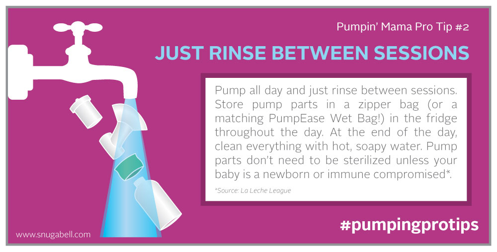Pump like a pro with Snugabell PumpEase breast pumping tip for breastfeeding moms