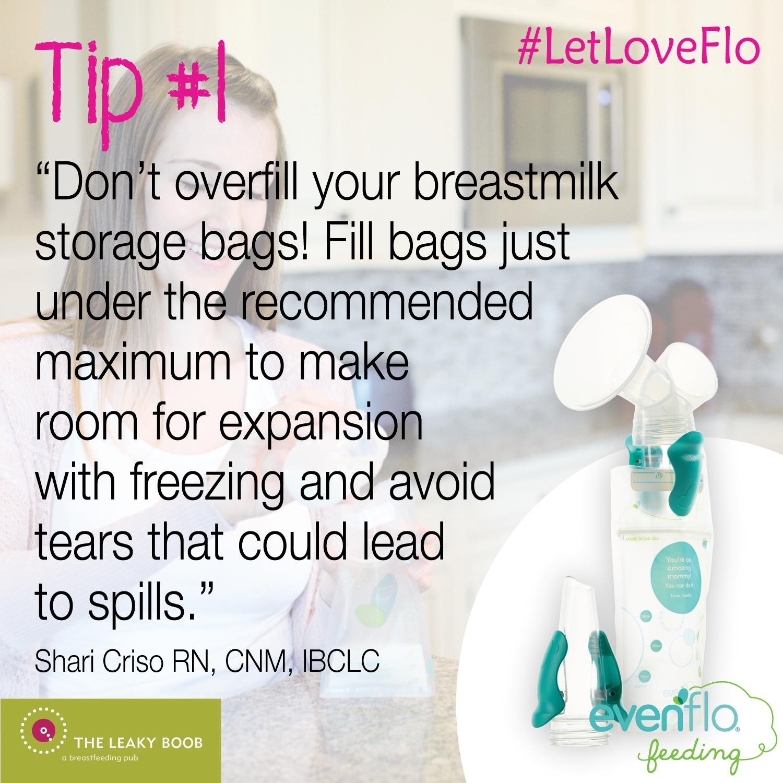 Evenflo breastmilk storage bag adaptors