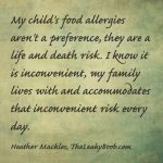 my child's allergies aren't a preference
