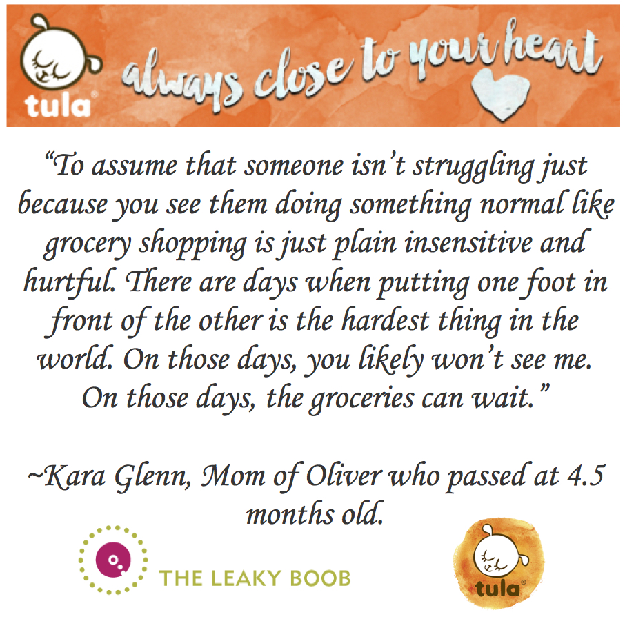 Tula infant and pregnancy loss awareness with Tula Baby Carriers